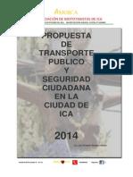 Propuesta Del Transporte Publico en Ica 2