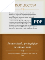 Pensamiento Pedagógico de Ramón Rosa (1)
