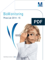 Biomonitoring Price List 2014 2015
