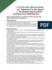 Summarising translation of Iyad Ag Ghali's speech named; A statement to the Islamic Ummah