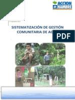 Sistematización de gestión comunitaria de agua - Nicaragua