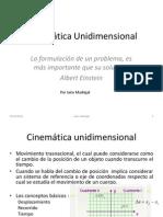 Notas de Clase Cinemática Unidimensional 2014