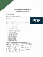 Acta Elección Rep Exrectores CSU 2014-2016