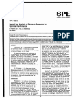 Second Law Analysis of Petroleum Reservoirs