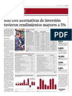 Solo 3 Alternativas de Inversión Tuvieron Rendimientos Mayores a 5%_Gestión 6-08-2014