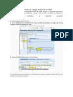 Impresión de Código de Barras en SAP