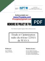 57758145 Etude Et Optimisation Radio Du Reseau CDMA de WANA