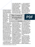 1995 Issue 10 - The Context of Evangelism