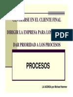 Centrarse en El Cliente Final Procesos