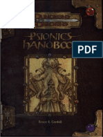 D&D 3.5 - Psionics Handbook