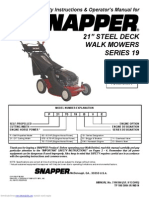 Snapper 217019BV User Guide