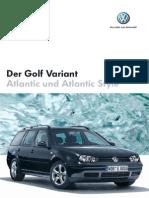 Der Golf IV Variant Atlantic & Atlantic Style Prospekt