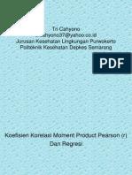 19596985 Statistik Koefisien Korelasi Moment Product Pearson Regresi