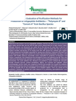 """Comparative Evaluation of Purification Methods For Production of Polypeptide Antibiotics - """"Polymyxin B"""" and """"Cerexin A"""" from Bacillus Sp."""