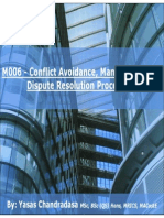 M006 Conflict Avoidance Management and Dispute Resolution (1)