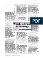 1996 Issue 2 - Worship, Hymns, And Theology - Counsel of Chalcedon