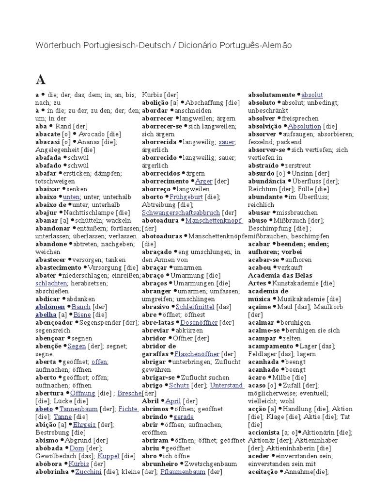 Dicionário Português Alemão