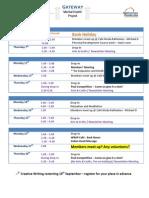 August 2014 Schedule