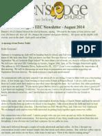 EEC August 2014 Newsletter