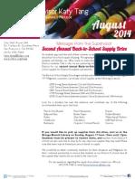 Supervisor Tang's August 2014 Newsletter
