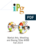 IPG Fall 2014 Martial Arts, Wrestling, Boxing, and Blackbelt Titles