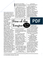 1996 Issue 5 - Sins of the Tongue Part 2 - Counsel of Chalcedon