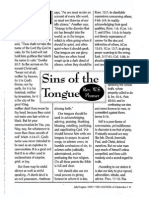 1996 Issue 6 - Sins of the Tongue Part 3 - Counsel of Chalcedon
