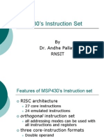 MSP430's Instruction Set