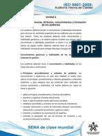 Tema 4. Competencias, Atributos, Conocimientos y Formacion de Los Auditores