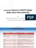 Different Flavours of SRVCC (Single Radio Voice