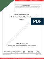 Panel Boe Hv320wxc-100 0 [Ds]