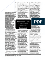 1997 Issue 5 - The Party's Over