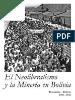 COMIBOL 2012 Neoliberalismo y Mineria en Bolivia