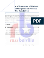 Hyperlinked Text of Legalization of Possession of Minimal Amounts of Marijuana for Personal Use Act of 2014