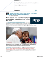 [New Post] Vatican Reeling as Pope Francis Admits There is an Army of Over 8,000 Pedophile Priests