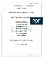 INFORME INCIDENTES