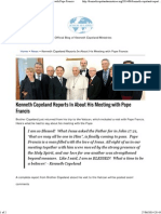 Kenneth Copeland Reports in About His Meeting With Pope Francis