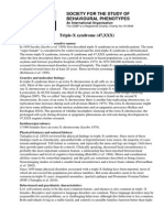 TripleX  Study Behavioural Phenotypes