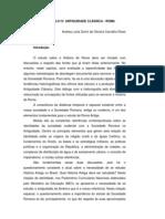 ANTIGUIDADE CLÁSSICA ROMA - FONTES