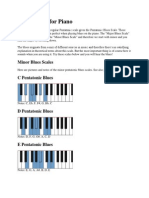Blues Scales for Piano