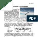 height of a zero gravity parabolic flight project