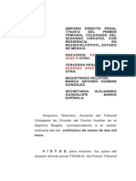 Versión Pública de Sentencia 778-2012