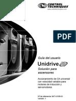 Guía de Usuario-Unidrive SP-Soluciones Elevación Ver 1