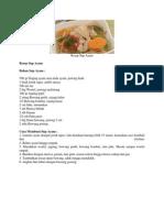 Resep Sup Ayam