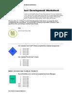 New Product Development Worksheet