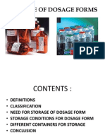 Storage of Dosage Forms