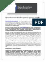Dyman Associates Risk Management Approach and Plan