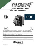 Burnham LEDV Oil Boiler OM