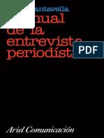 Cantavella Juan - Manual de La Entrevista Periodistica (198pag)