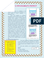 Solubility and Solubility Product Material